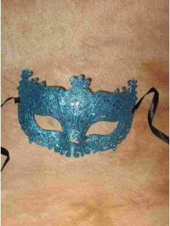 Vénitien dentelle bleu