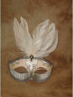 Vénitien blanc à plumes
