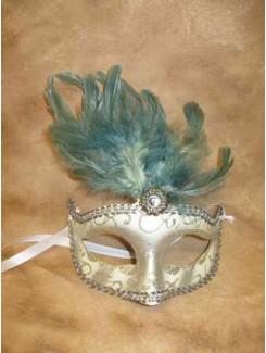 Vénitien blanc à plumes vertes