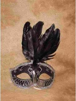 Vénitien noir à plumes