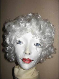 Perruque Blanc frisé