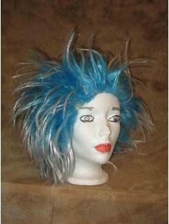Perruque Punk bleu