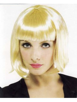 Perruque carré blond