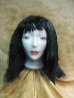 Perruque mi-longue noire