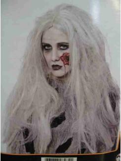 Perruque sorcière grise