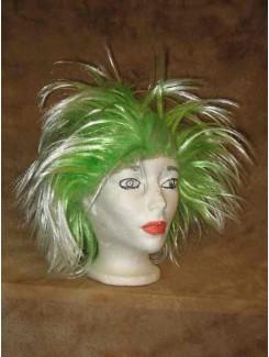 Perruque Punk vert